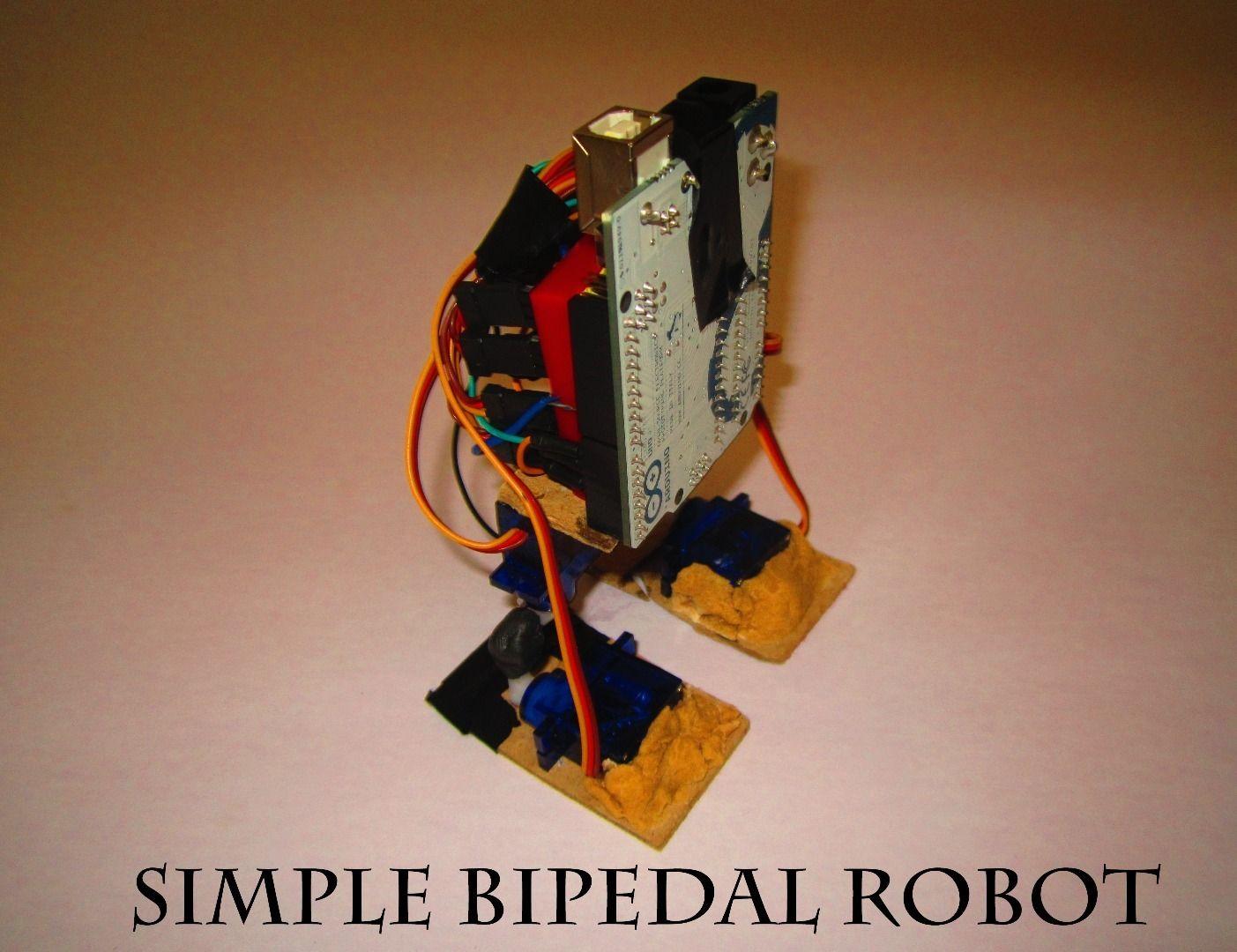 Make a simple bipedal humanoid robot servo walking