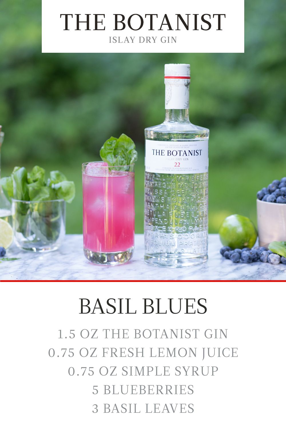 The Botanist Gin Basil Blues Drinks Alcohol Recipes Botanist Gin Alcohol Drink Recipes