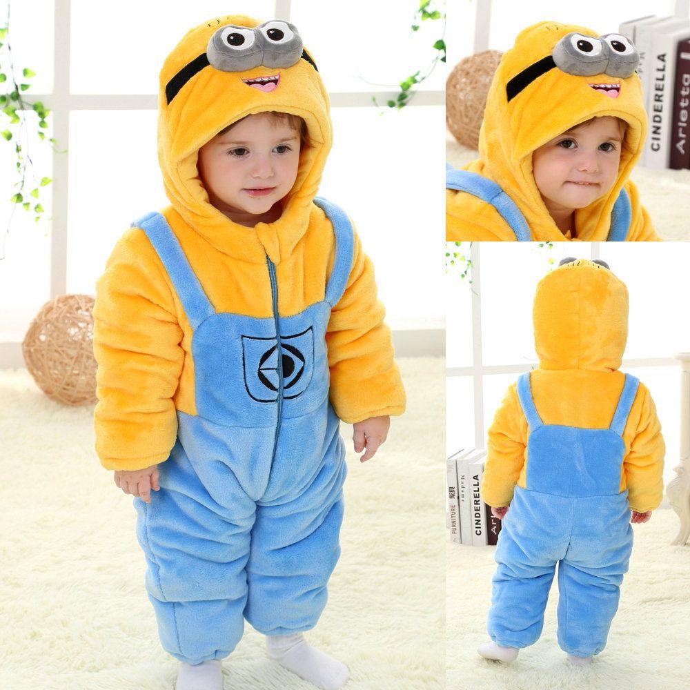 Despicable Me Minions Toddler Onesies Baby Pajamas Kigurumi ...