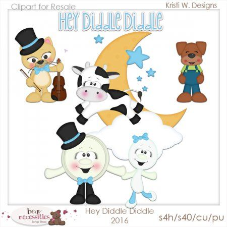 Hey Diddle Diddle 2016 Clipart for Resale