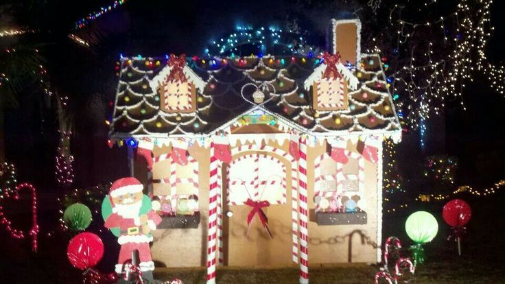 Christmas lights 2010 - our gingerbread house and Gingy | Seasonal ...
