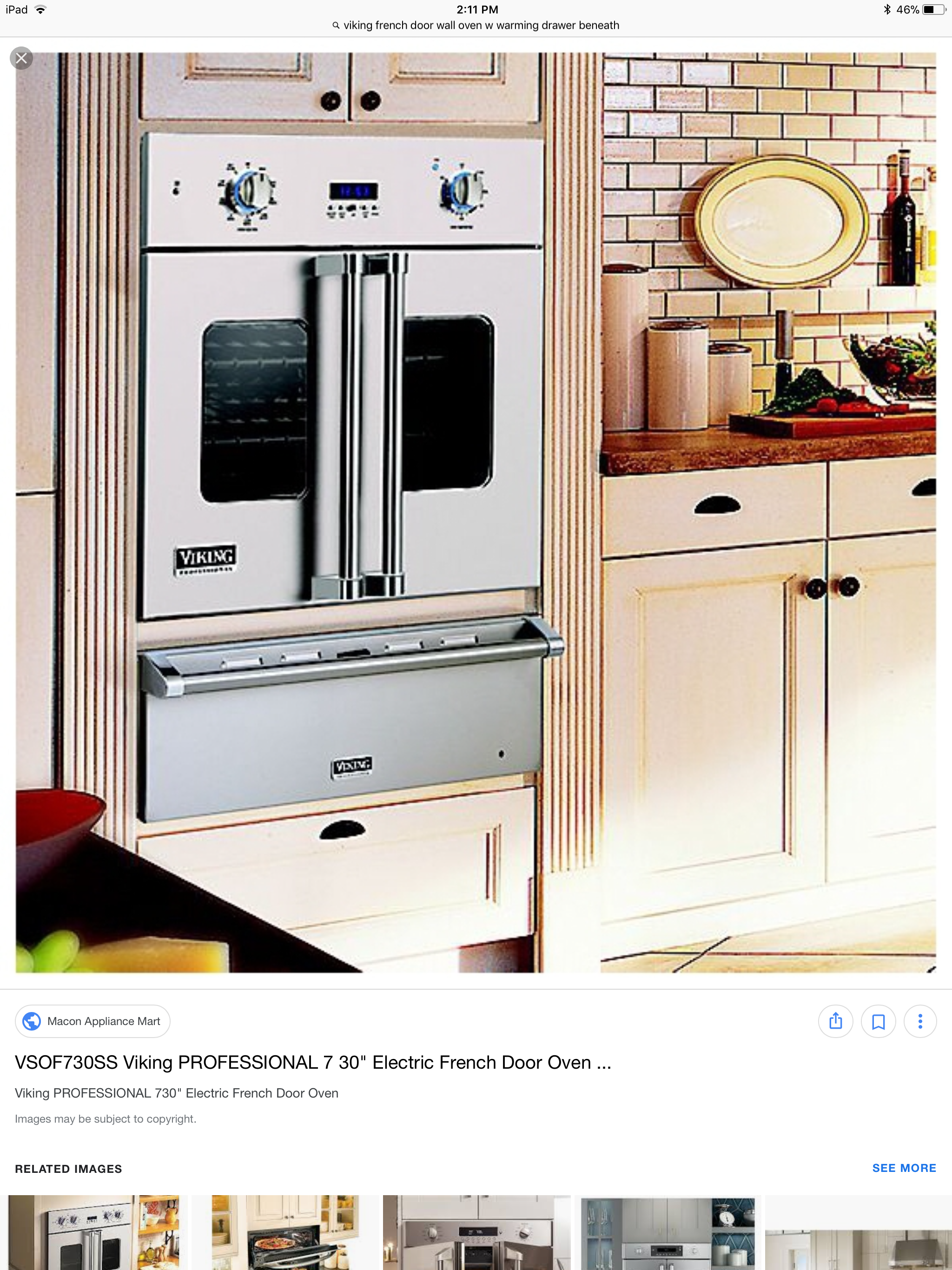 French Door Wall Oven W Warming Drawer