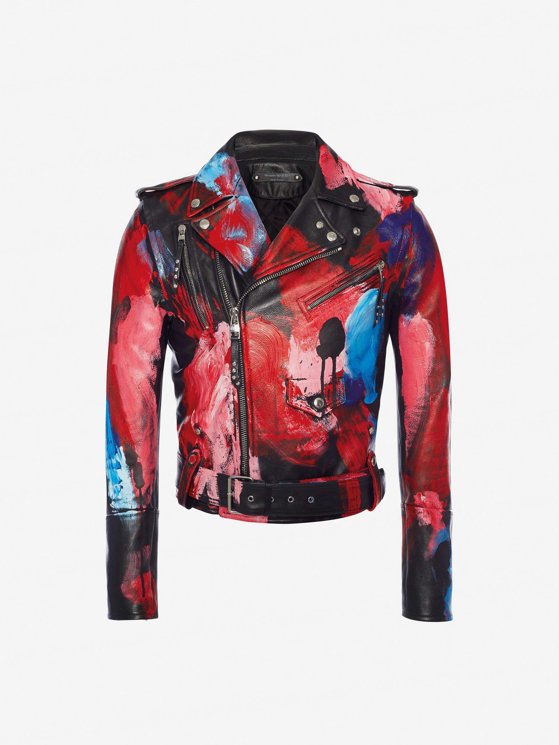 Painter's Palette Leather Biker Jacket Painter's Palette