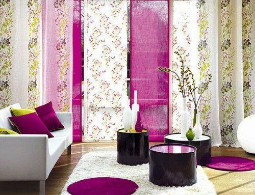 22 wunderschöne Ideen für dekorative Vorhänge zu Hause - wohnzimmer ideen pink