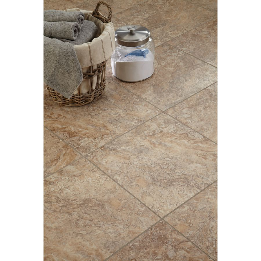 Shop Stainmaster 18 In X 18 In Groutable Crushed Shell Luxury Vinyl Tile Vinyl Tile Luxury Vinyl