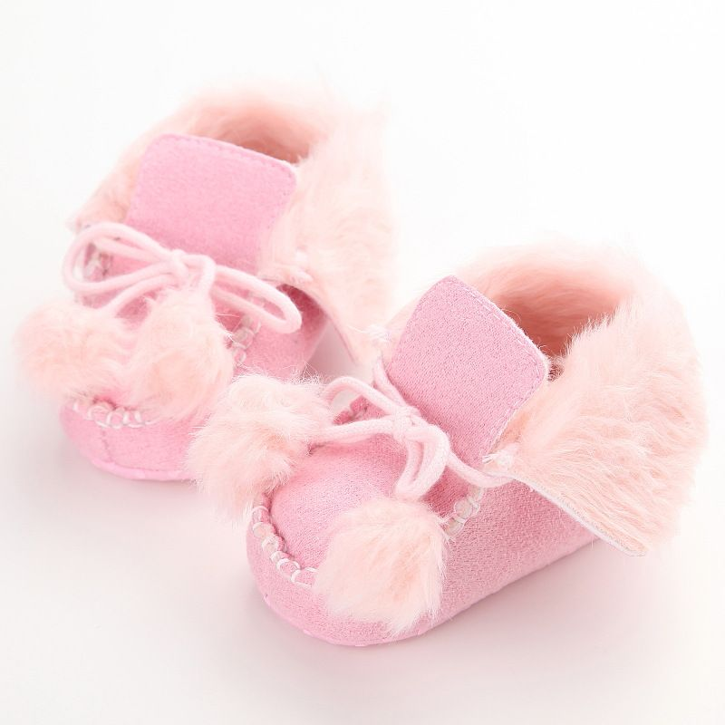 Click To Buy Winter Warm Baby Shoes Soft Bottom Non Slip Fur