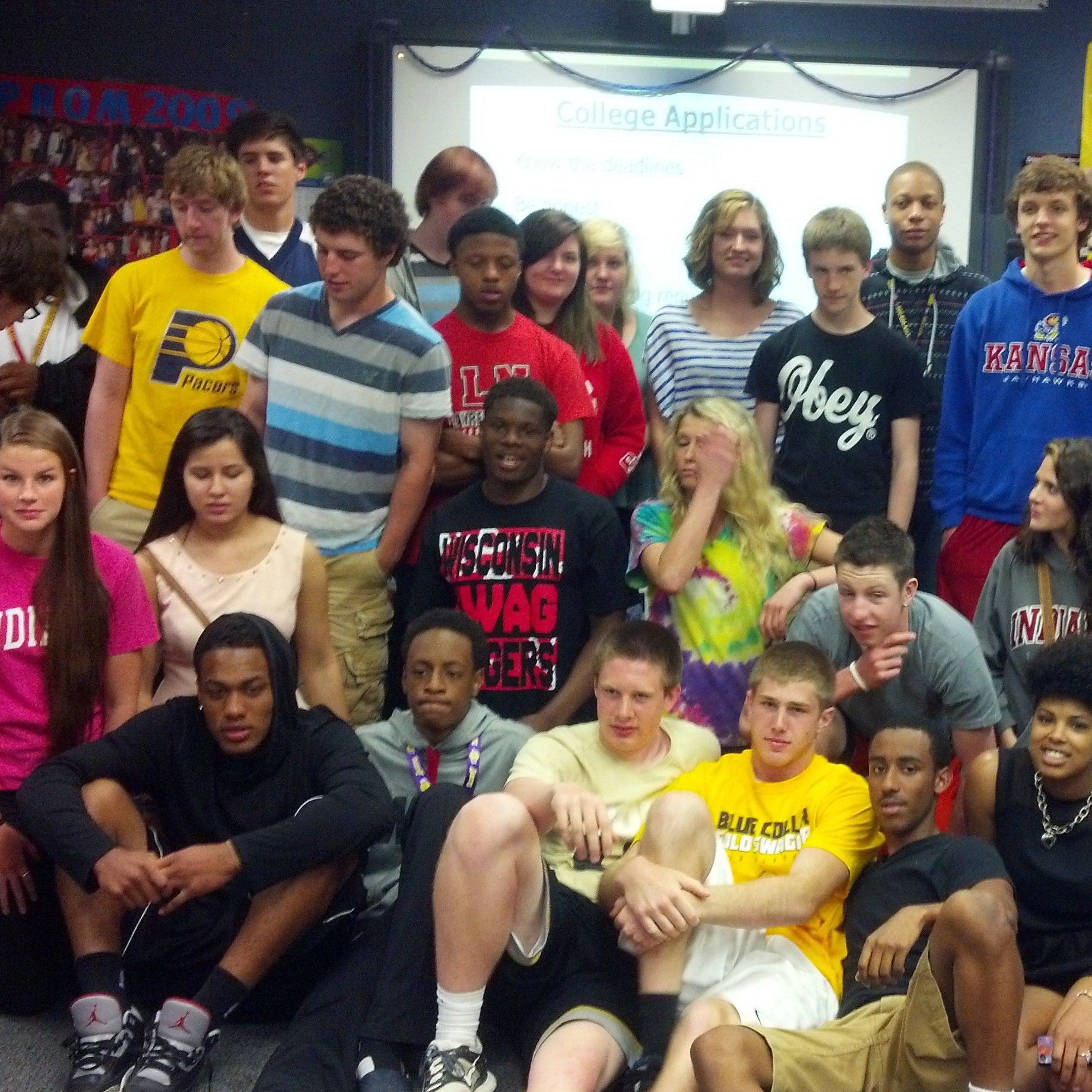 One of Wendy McNarney's College Prep classes at Lawrence