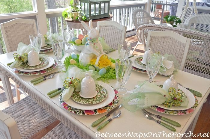 Spring Easter Table Setting With Spode Emma\u0027s Garland \u0026 Bunny Centerpiece & Spring Easter Table Setting With Spode Emma\u0027s Garland \u0026 Bunny ...