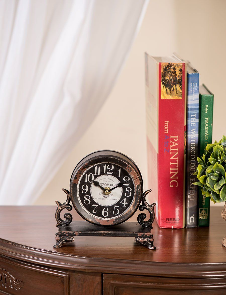 Table Clocks Buy Online Antique Rustic Table Clock Port Rustic