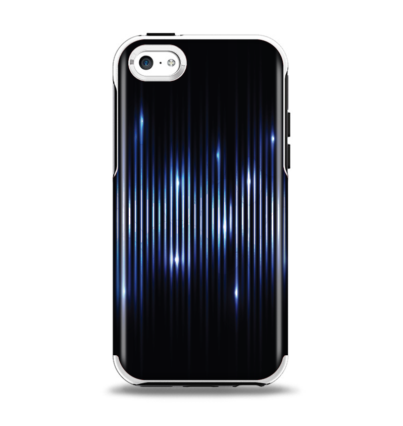 The Glowing Blue WaveLengths Apple iPhone 5c Otterbox Symmetry Case Skin Set