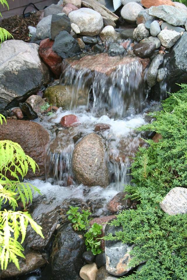 Waterfall created by Premier Aquarium Service Inc in Richfield, MN. #WaterfallWednesday