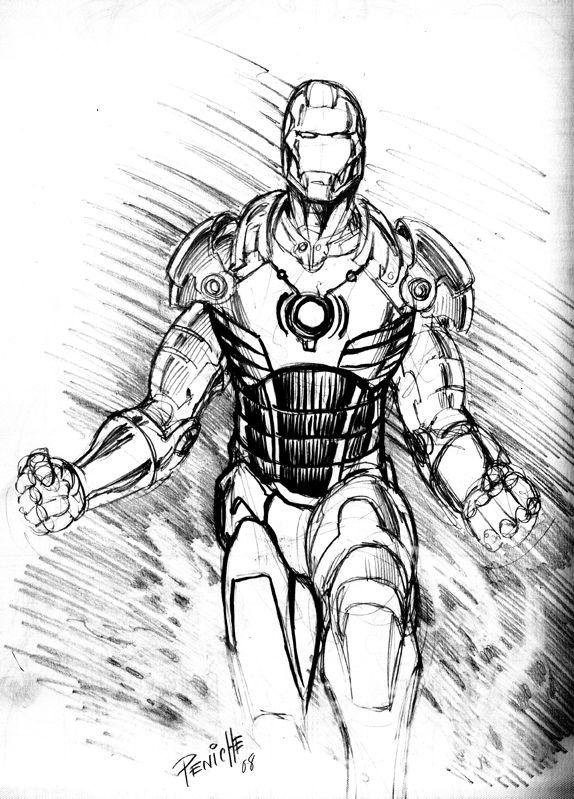 ironman sketch | Iron man sketch by Fpeniche | Ironman ...