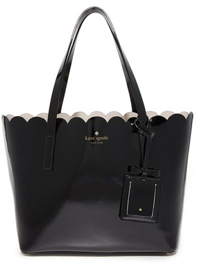 Kate Spade New York Small Carrigan Tote - Black/Crisp Linen
