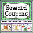 Reward Coupons (Reward Cards, Punch Cards & Bonus Points Cards) - This bundle of reward coupons can be used repeatedly for years of classroom m...