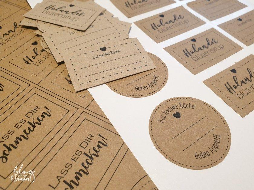 Mit Liebe selbstgemacht – Etiketten für Gastgeschenke   Etiketten  gestalten, Etiketten selber machen, Etiketten vorlagen