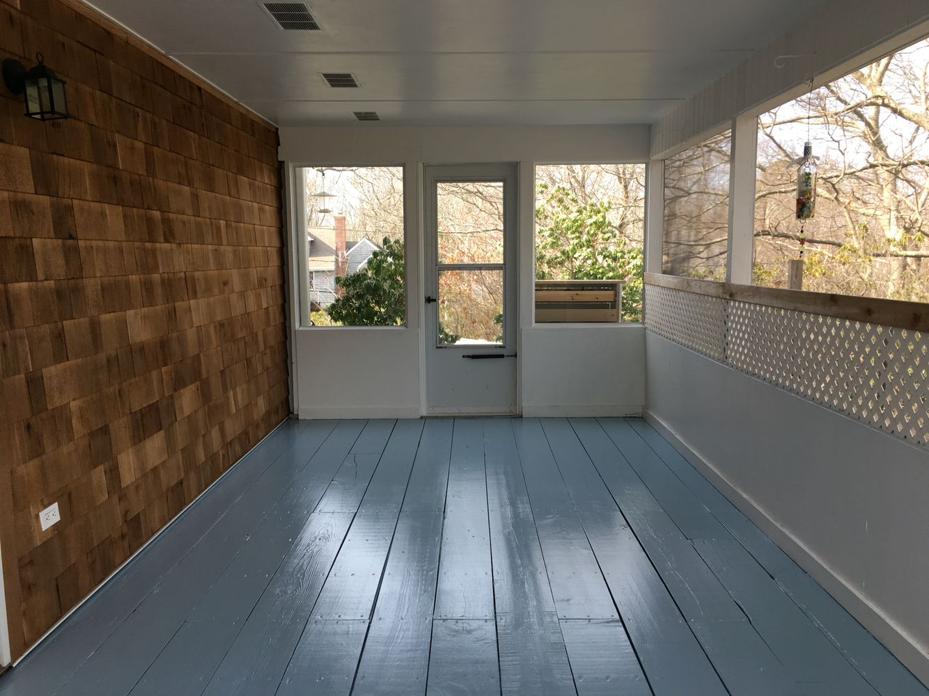 Amazing Behr Patio Paint #3   Behr Deck And Patio Paint, Semi Gloss In  Nautical Blue. Love My New And