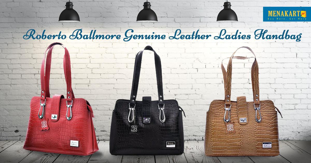 9e212d3a5e Roberto Ballmore Genuine Leather Ladies Handbags Online   Womens ...