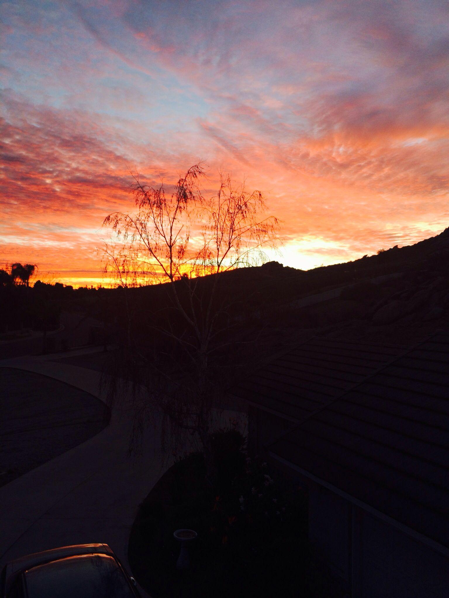 Beautiful sunrise #riverside#january#Californialove