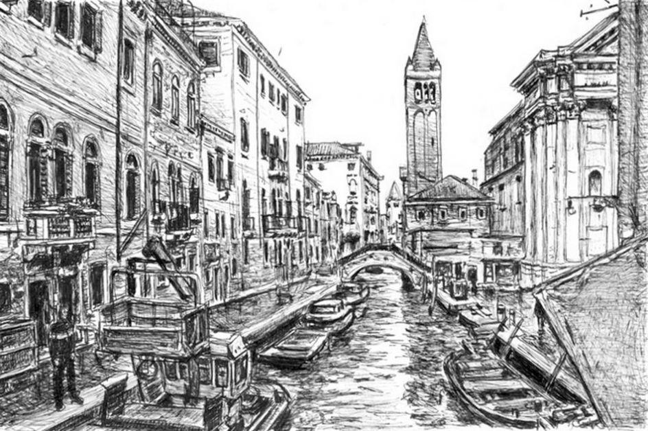 пол италия черно белый рисунок того, отдых