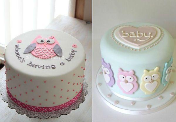 Lindos bolos para um chá de bebê corujas!