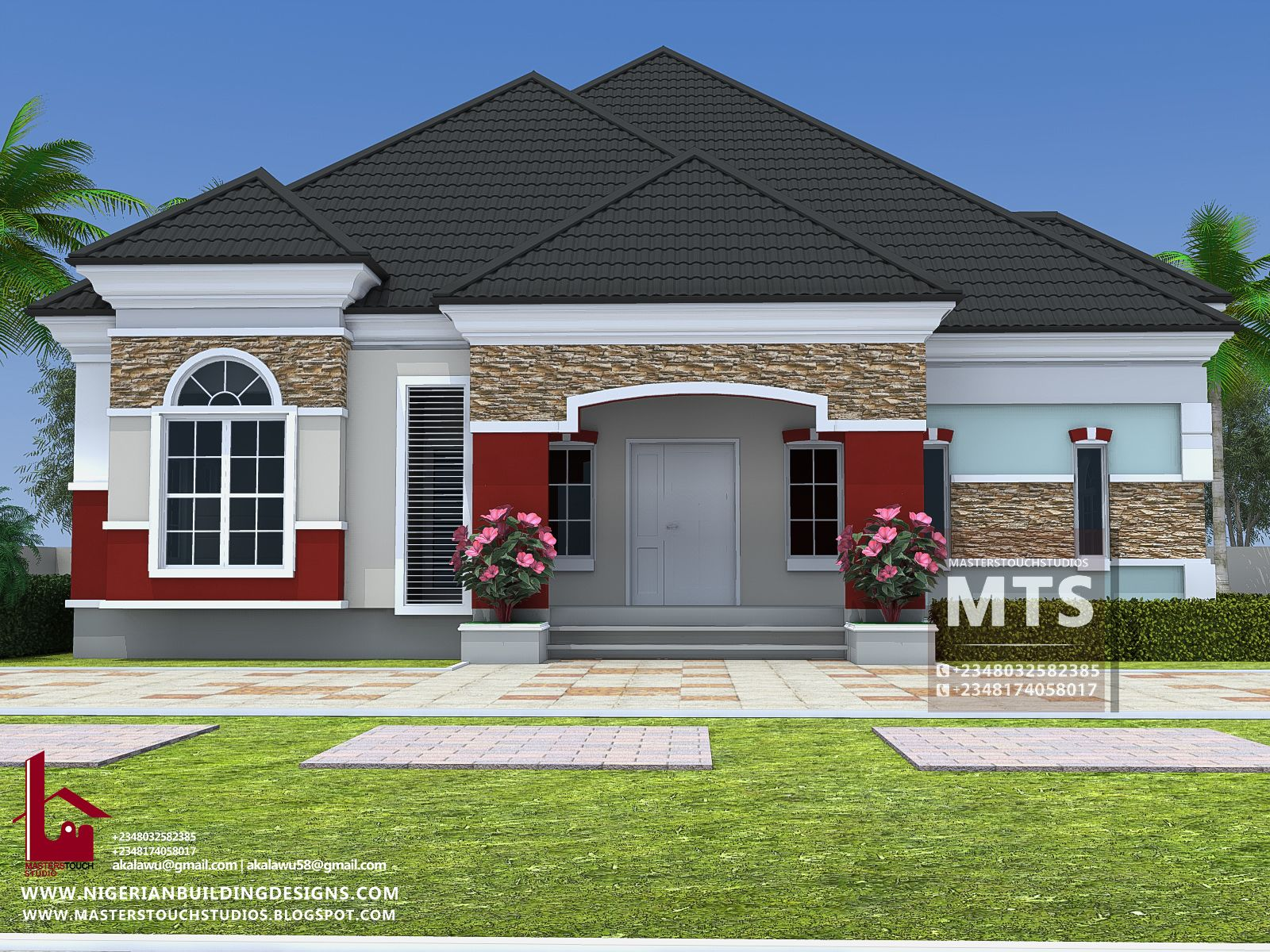Homes houses nigeria beautiful bungalow architecture design exterior