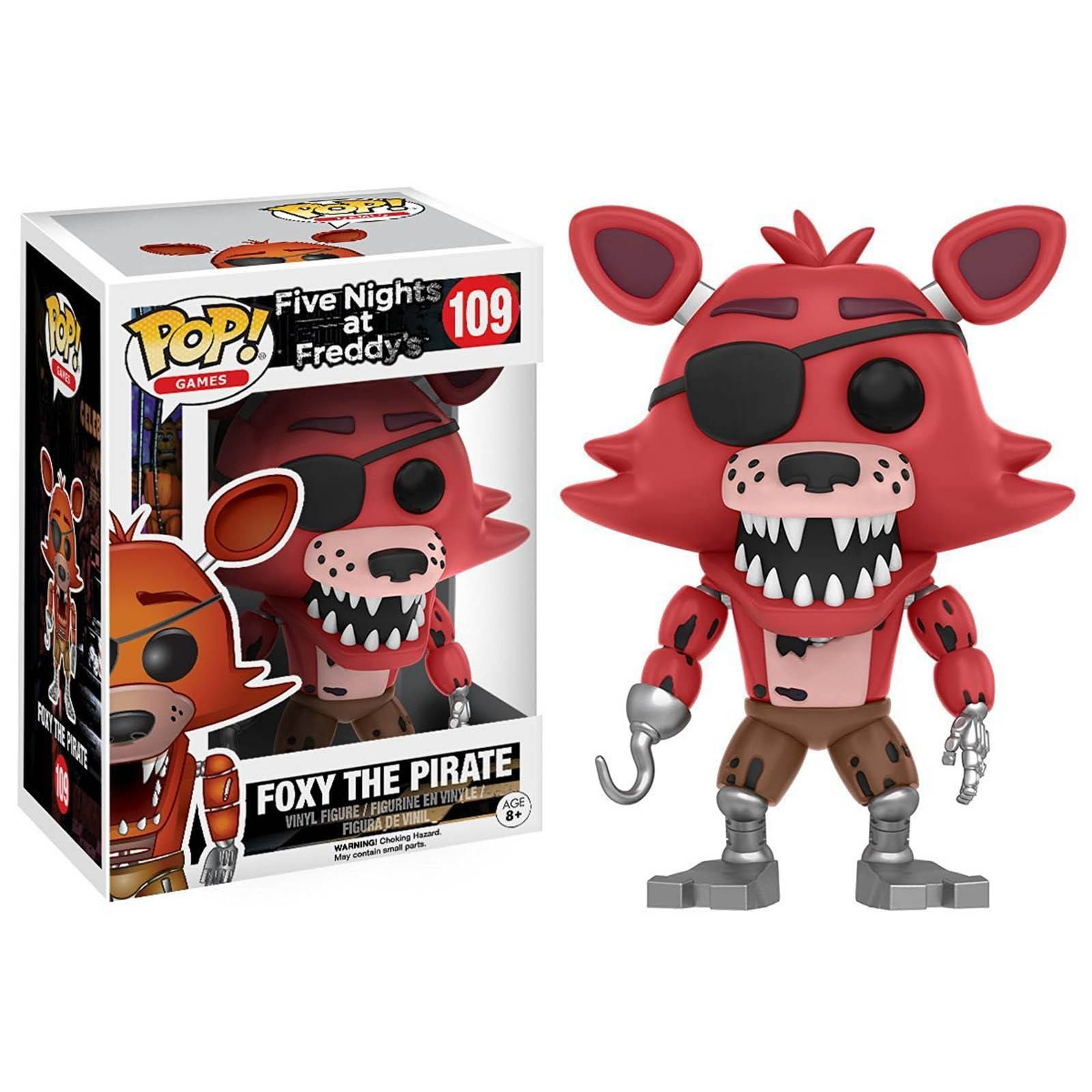 This is a Five Nights At Freddy's POP Foxy The Pirate Vinyl Figure that's produced by the nice folks over at Funko. Foxy looks awesome in Funko POP Vinyl form. Neat for any fan of Five Nights at Fredd