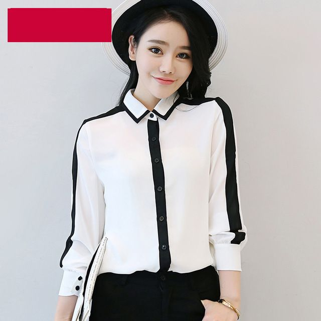 6a1b466b Special price 2017 Spring New Arrival Fashion Women Chiffon Blouses Shirts  White Black Long Sleeve Casual Shirt Women Tops Plus Size Blusas just only  $10.41 ...