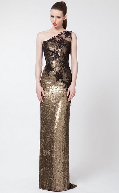 Fotos de vestidos dorados de noche