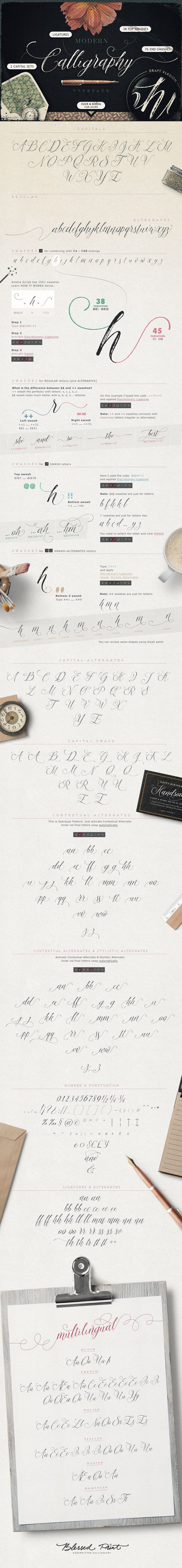 Amelia Script  Draft Version By Blessed Print On Creativemarket