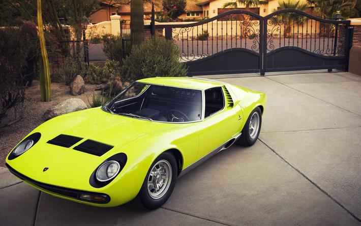 Lamborghini Miura P400sv 1967 Retro Sports Coupe Classic Cars