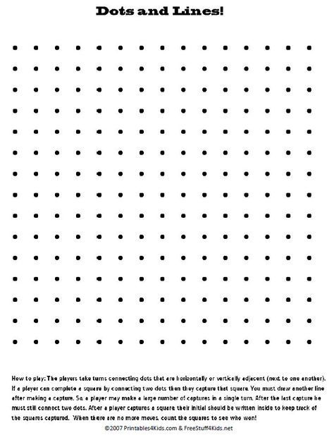 Critical image with regard to printable dots game