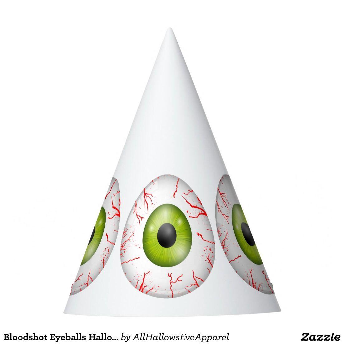 Bloodshot Eyeballs Halloween Party Hats