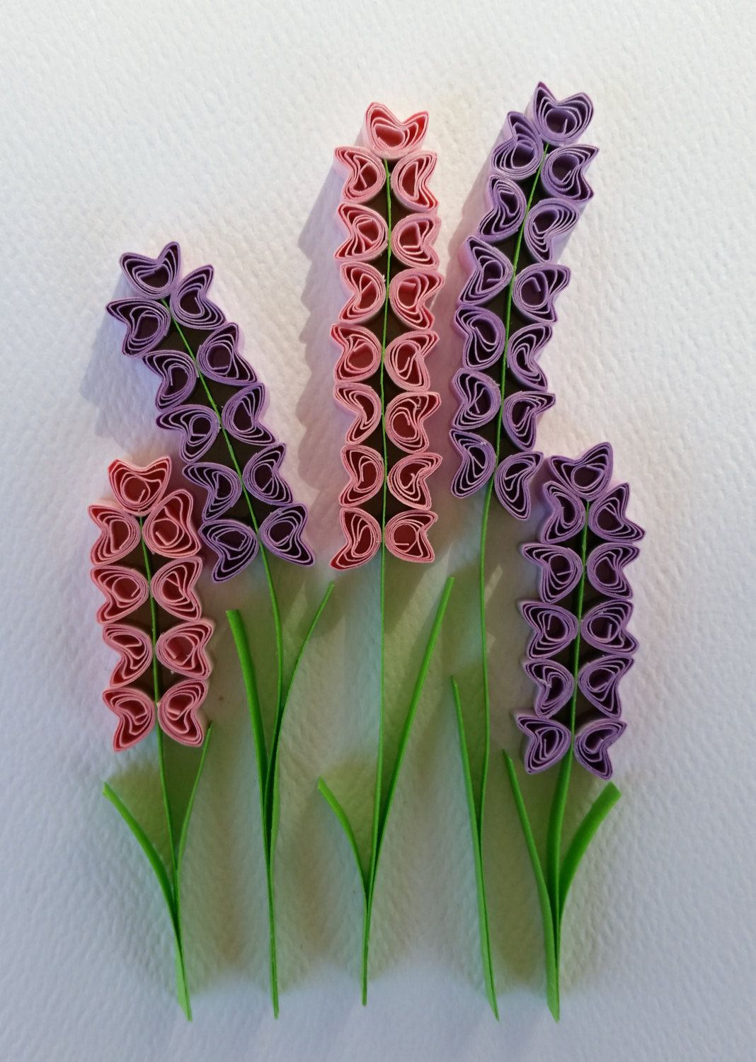 Paper quilled hyacinth flowers card 5x7 by iheartquilling for Best quilling designs