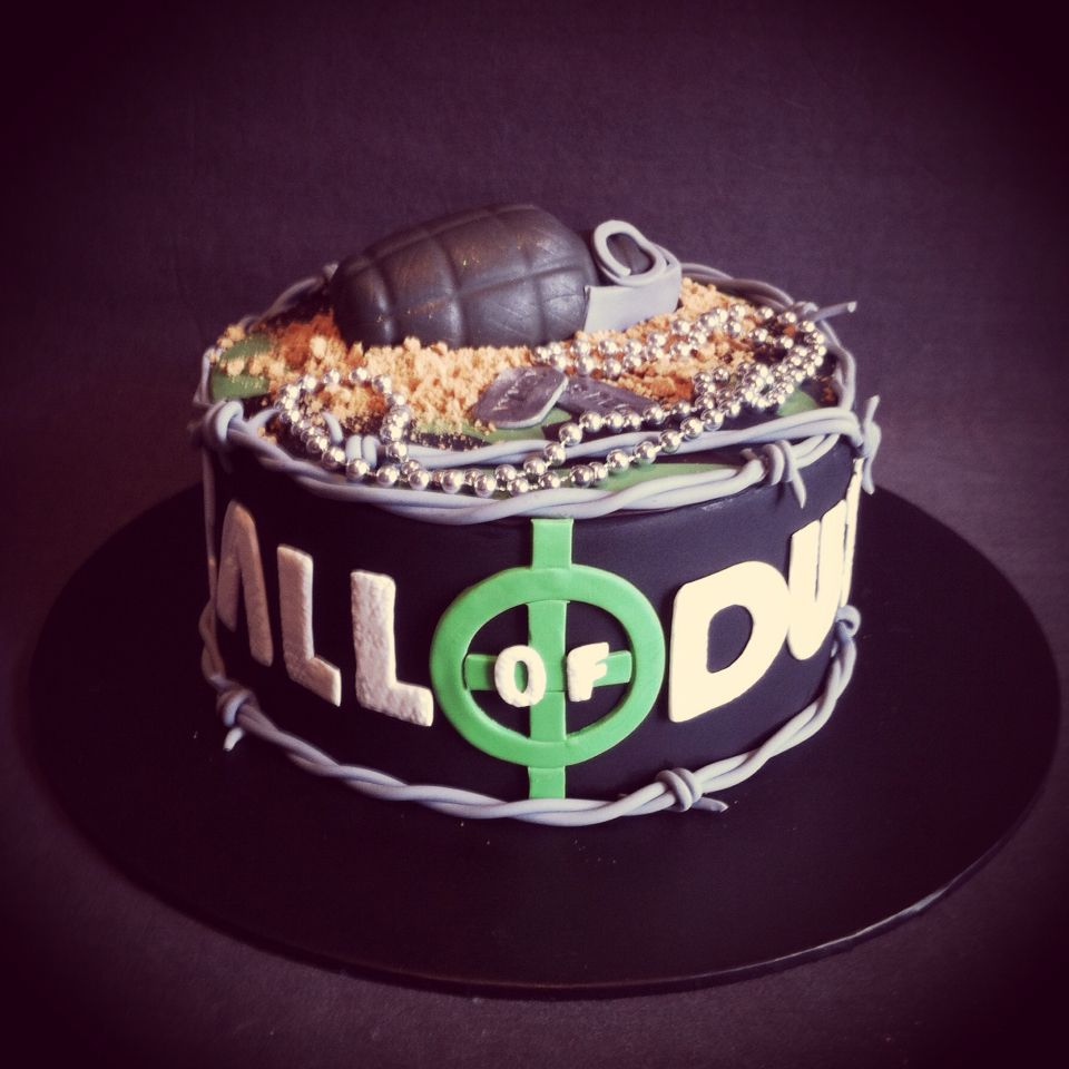 Call of duty cake all handmade decorations except for