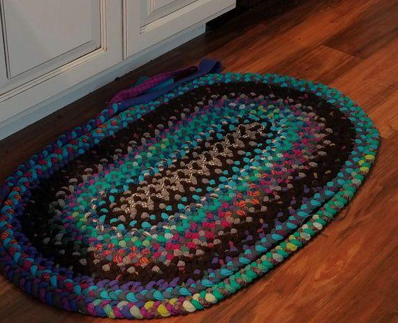 Tappeto in lana intrecciata ovale 2 x 3 Cose da comprare