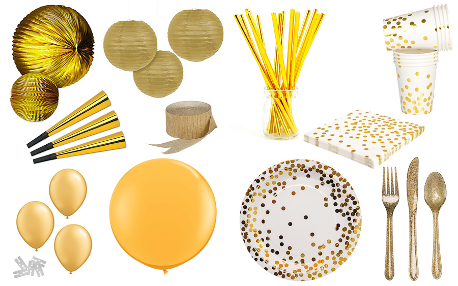 GOLDEN NEW YEAR'S EVE PARTY: GET-KIT-DONE INSTANT PARTY ...