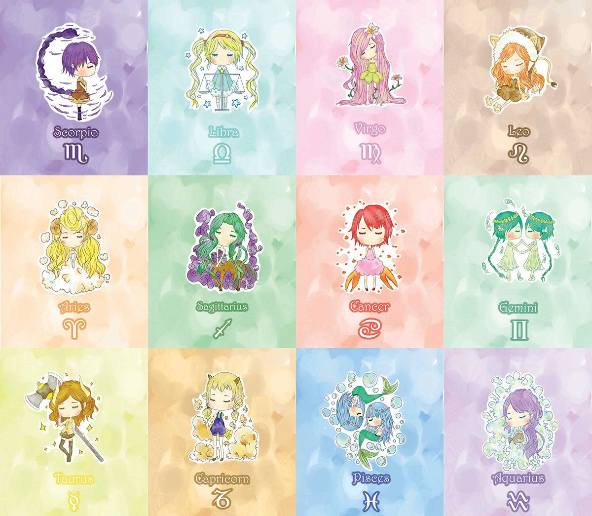 dreamy zodiac girls | the magnificent zodiac | pinterest | 星座