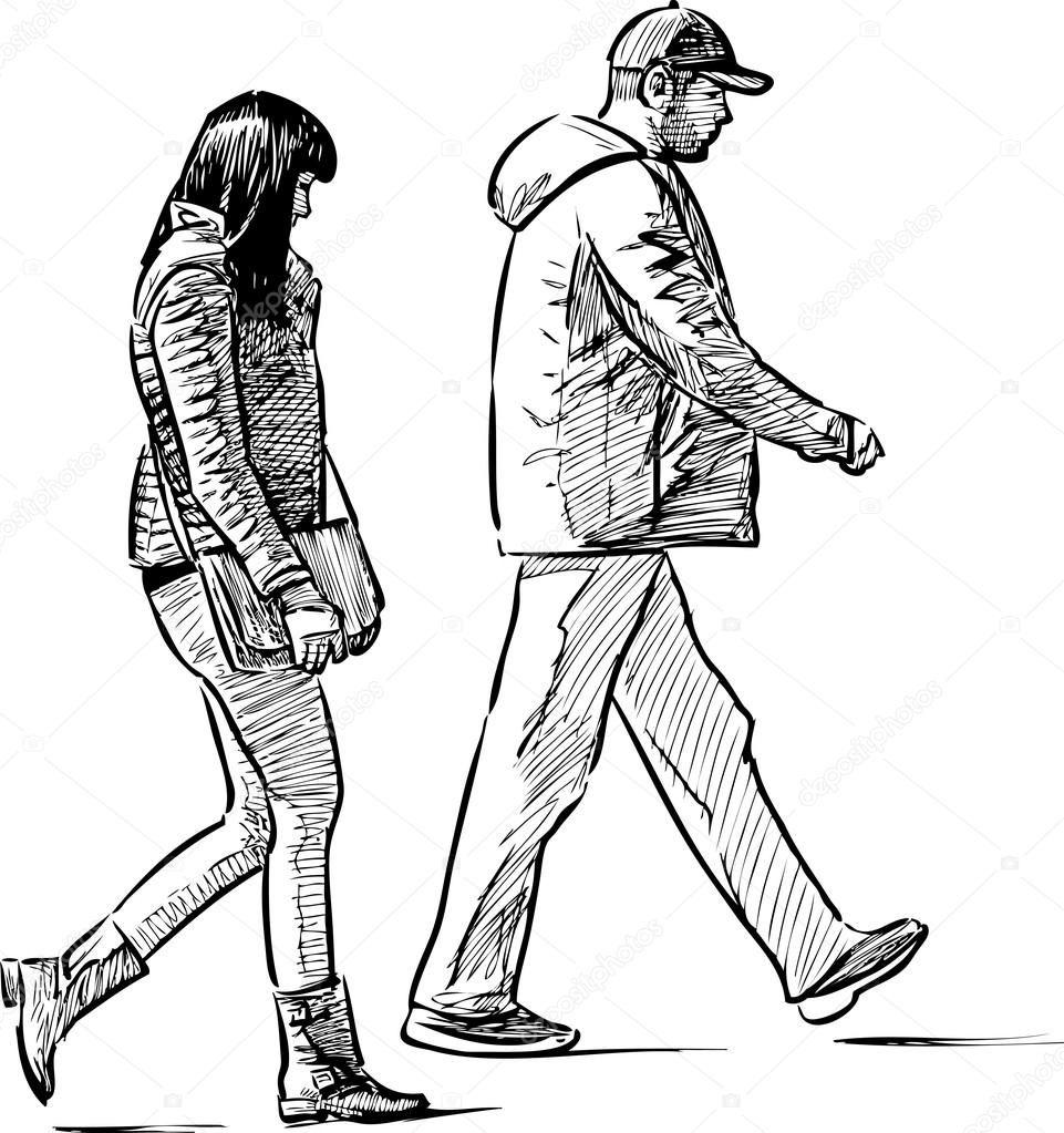 Resultado De Imagen Para Personas Caminando Dibujo Persona Caminando Dibujos De Personas Personas