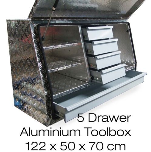 1220x505x705mm Heavy Duty Aluminium Toolbox Ute Truck Tool Box Storage 5 Drawers 9312046274019 Ebay Truck Tool Box Truck Tools Tool Box Storage