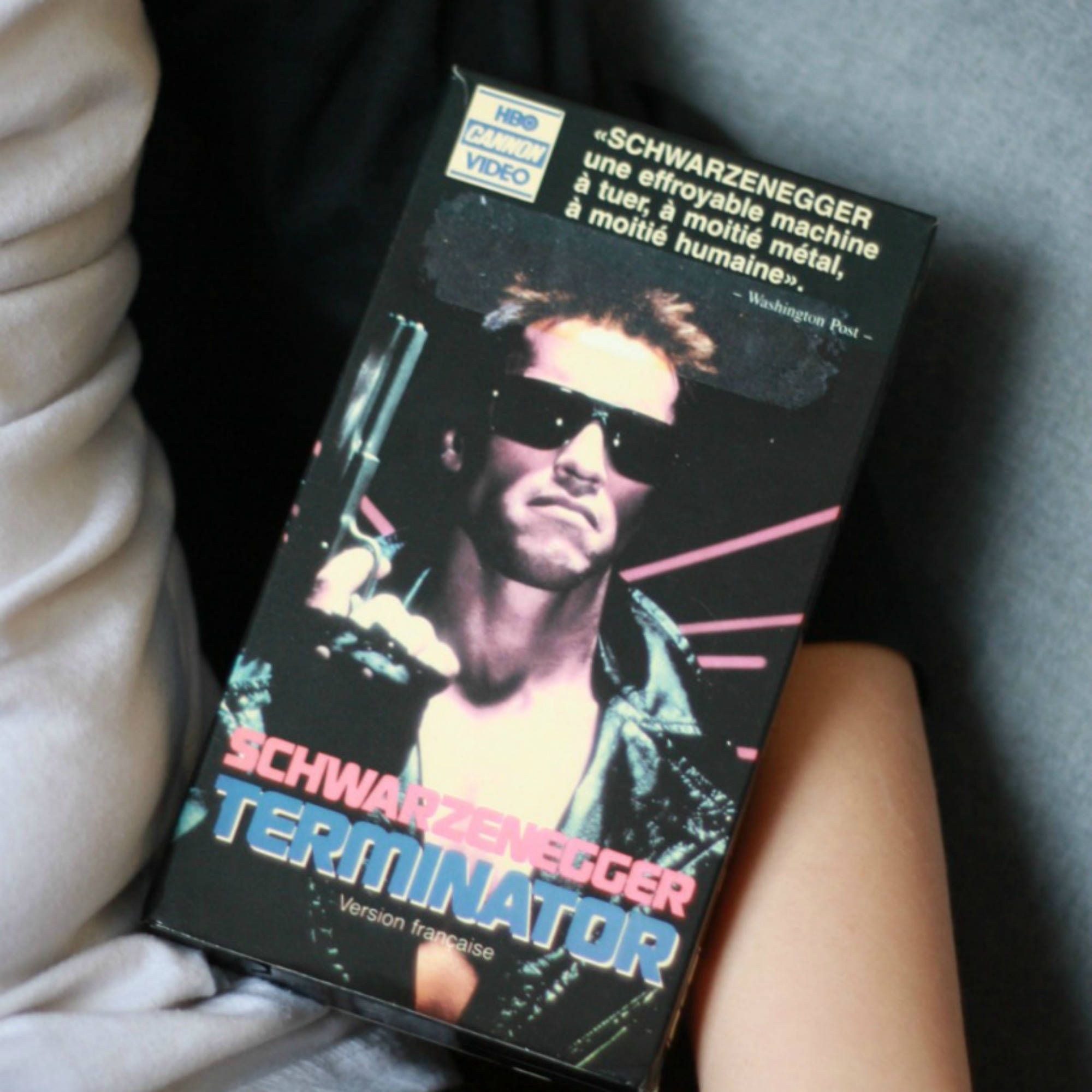 Terminator FRENCH VHS, Arnold movie, 80s Movie
