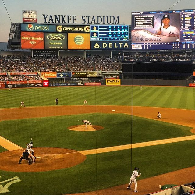 Let's go @Yankees! Boooo Boston... We love you A Rod as long as you keep hitting the ball well #yankees #baseball #rivals #nyc