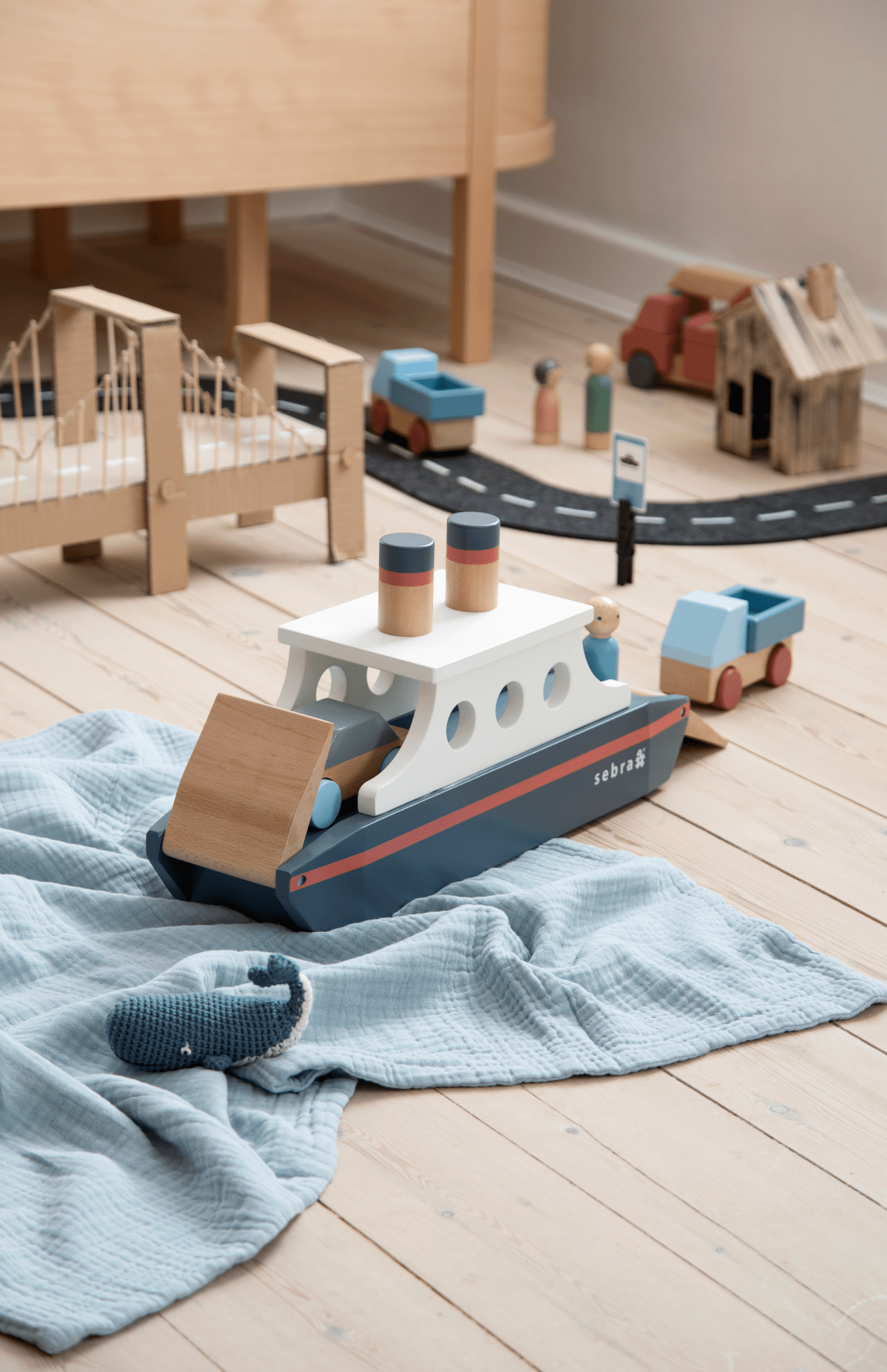 Sebra Wooden Ferry In 2020 Wooden Childrens Toys Making Wooden Toys Wooden Playset