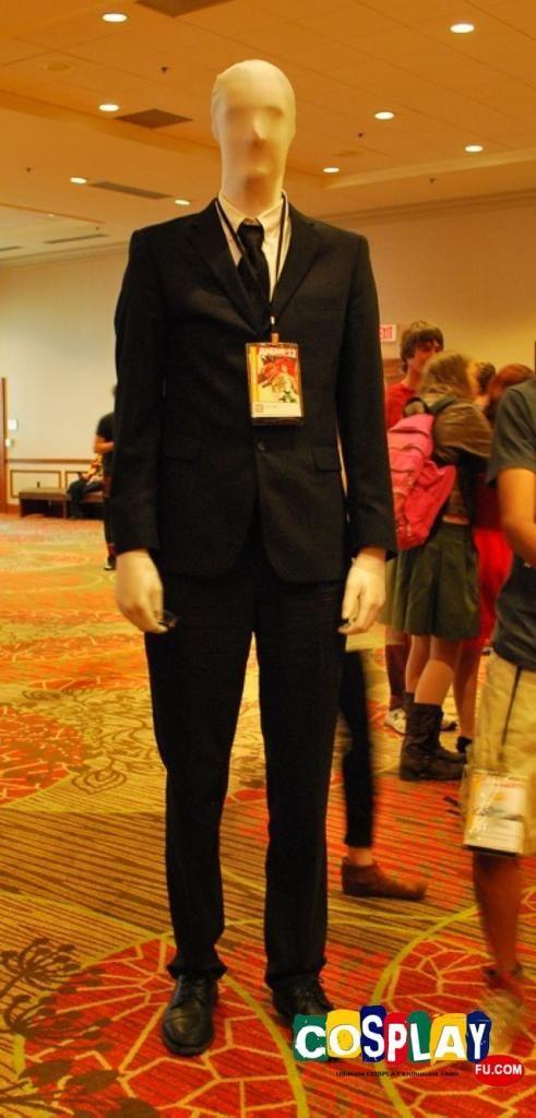 Slender Man Cosplay from Creepypasta at AnimeFest   Creepypasta cosplay. Cosplay. Male cosplay