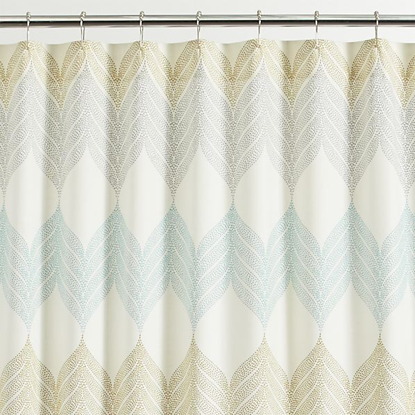 sheesha leaf shower curtain - crate and barrel | crate and barrel