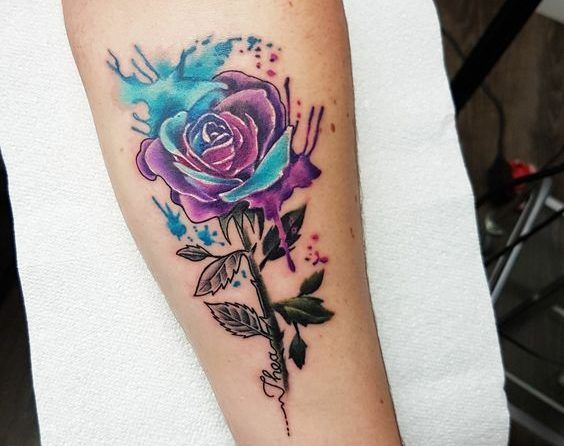 Tatuajes De Rosas Para Mujer Brazo Hombro 372 Fotos