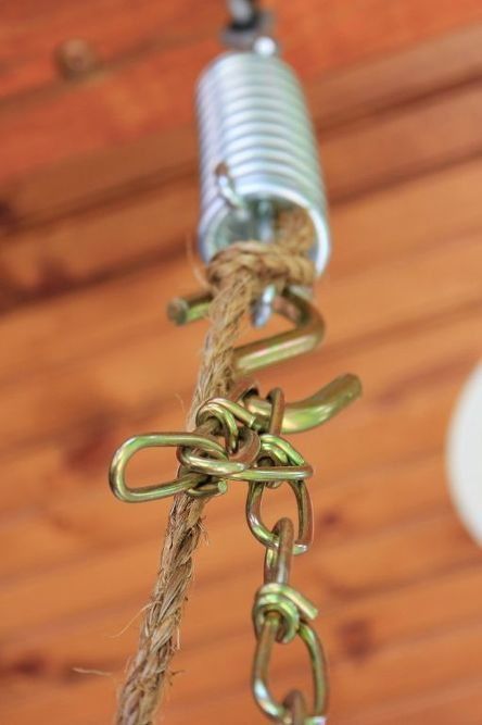 Rope Wrapped Chain For A Porch Swing Porch Swing