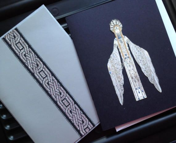 Art Deco Style Greeting Card 4x6 Set of 2.  by ScrippsStyle