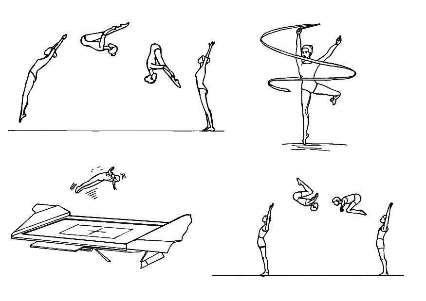 gymnastic positions coloring pages the coloring pages pinterest