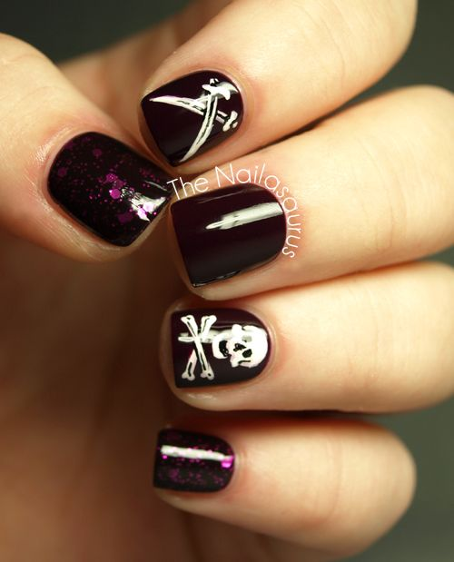 BONUS! Inspired by a Flag Take 2 | Pirate nails, Skull ...