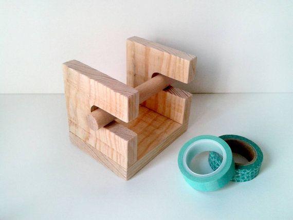Organizador mini para 4 rollos de washitape por Inkcolora en Etsy